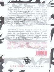 L'amour de l'écriture - 4ème de couverture - Format classique