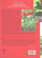 Herboristerie Manuel Pratique - 4ème de couverture - Format classique