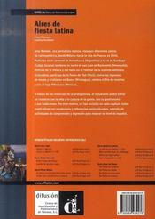 Aires de fiesta latina b1 - 4ème de couverture - Format classique