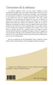 L'invention de la tolérance ; Averroès, Maïmonide, Las Casas, Voltaire, Lincoln - 4ème de couverture - Format classique