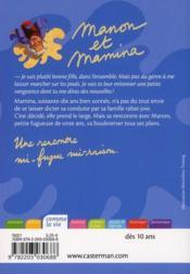 Manon et Mamina - 4ème de couverture - Format classique