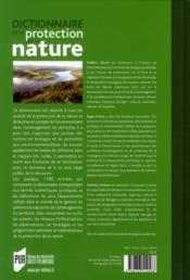 Dictionnaire de la protection de la nature - 4ème de couverture - Format classique