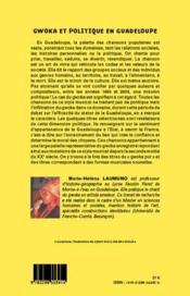 Gwoka et politique en Guadeloupe ; 1960-2003, 40 ans de construction du