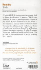 Iliade - 4ème de couverture - Format classique