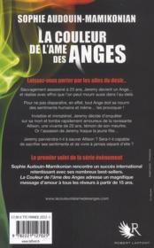 La couleur de l'âme des anges - 4ème de couverture - Format classique