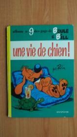 ALBUM n° 9 DES GAGS DE BOULE ET BILL : UNE VIE DE CHIEN [édition originale] - Couverture - Format classique