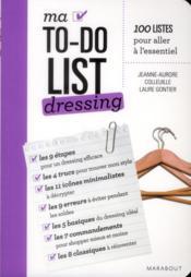 Ma to do list dressing - Couverture - Format classique
