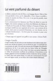 Le Vent Parfume Du Desert Sur Les Traces De Dieu Entre Solitude Et Communion - 4ème de couverture - Format classique