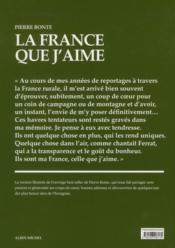 La France que j'aime - 4ème de couverture - Format classique