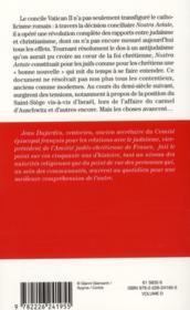 Catholiques et juifs ; cinquante ans après Vatican II ; où en sommes-nous ? - 4ème de couverture - Format classique