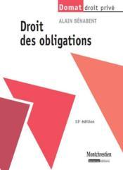 Droit des obligations (13e édition) - Couverture - Format classique