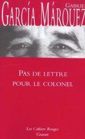 Pas de lettre pour le colonel - Intérieur - Format classique