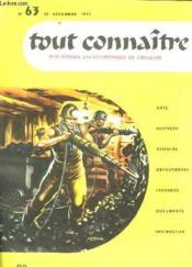Tout Connaitre N° 63 Du 15 Decembre 1957. Le Charbon. - Couverture - Format classique