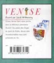 Petit pop-up panoramique ; Venise - 4ème de couverture - Format classique