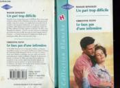 Un Pari Trop Difficile Suivi De Le Faux Pas D'Une Infirmiere (For Jodie'S Sake - From House Come'S To Husband) - Couverture - Format classique