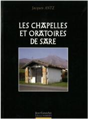 Les chapelles et oratoires de sare - Couverture - Format classique