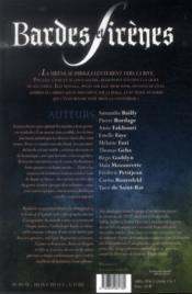 Bardes et sirènes ; anthologie des imaginales - 4ème de couverture - Format classique