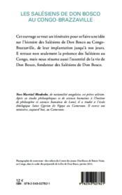 Les Salésiens de Don Bosco au Congo Brazzaville (1959-2009) - 4ème de couverture - Format classique