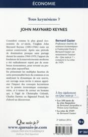 John Maynard Keynes (2e édition) - 4ème de couverture - Format classique