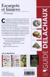 Escargots et limaces d'Europe - 4ème de couverture - Format classique