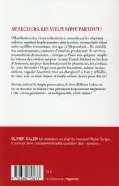 Vive les vieux ! - 4ème de couverture - Format classique