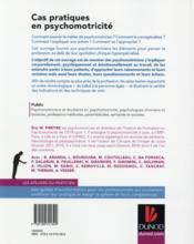 Cas pratiques en psychomotricité - 4ème de couverture - Format classique