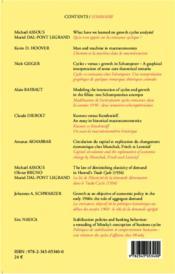 Cahiers d'économie politique N.67 ; what have we learned on growth cycles analysis ? - 4ème de couverture - Format classique