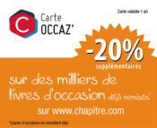 Carte OCCAZ' : 20% de réduction supplémentaire sur des milliers de livres d'occasion - Couverture - Format classique