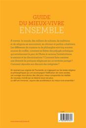Guide du mieux-vivre ensemble - 4ème de couverture - Format classique