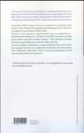 Les jonquilles de Green Park - 4ème de couverture - Format classique