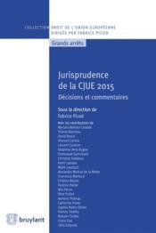 Jurisprudence de la CJUE 2015 ; décisions et commentaires - Couverture - Format classique