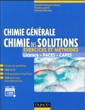Chimie générale : chimie des solutions - exercices et methodes - exercices et methodes - Couverture - Format classique
