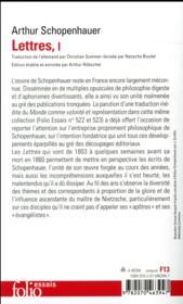 Lettres t.1 - 4ème de couverture - Format classique