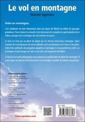 Le vol en montagne expliqué au pilote (3e édition) - 4ème de couverture - Format classique