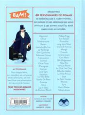 40 personnages de roman - 4ème de couverture - Format classique