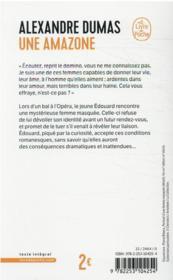 Une Amazone - 4ème de couverture - Format classique