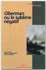 Oberman ou le sublime négatif - Couverture - Format classique