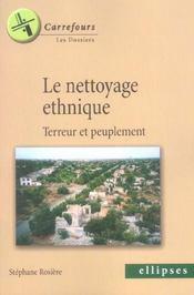 Le Nettoyage Ethnique Terreur Et Peuplement - Intérieur - Format classique
