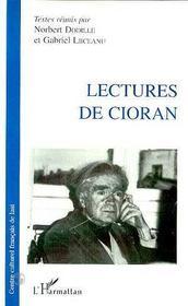 Lectures De Cioran - Intérieur - Format classique