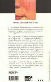 Grain De Peau - 4ème de couverture - Format classique
