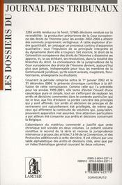 La convention européenne des droits de l'homme - 4ème de couverture - Format classique