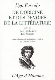 De l'origine et de l'office de la littérature - Intérieur - Format classique