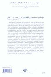 Connaissance Et Representations Des Volcans Dans L'Antiquite. Colloqu E De Clermont-Ferrand, 19 Et 2 - 4ème de couverture - Format classique