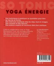 Yoga énergie - 4ème de couverture - Format classique
