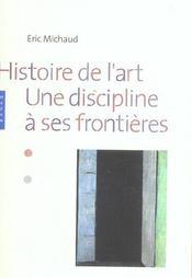 Histoire de l'art - une discipline a ses frontieres - Intérieur - Format classique