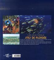 Les plus beaux sites de plongée - 4ème de couverture - Format classique
