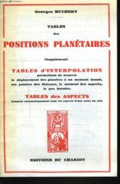 Table D'Interpolation - Couverture - Format classique