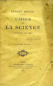 L'Avenir De La Science, Pensees De 1848 - Couverture - Format classique