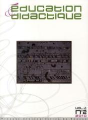 Éducation & didcatique n°4/2 (édition 2010) - Couverture - Format classique