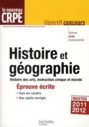 L'histoire-géographie au nouveau CRPE ; épreuve écrite d'admissibilité - Couverture - Format classique